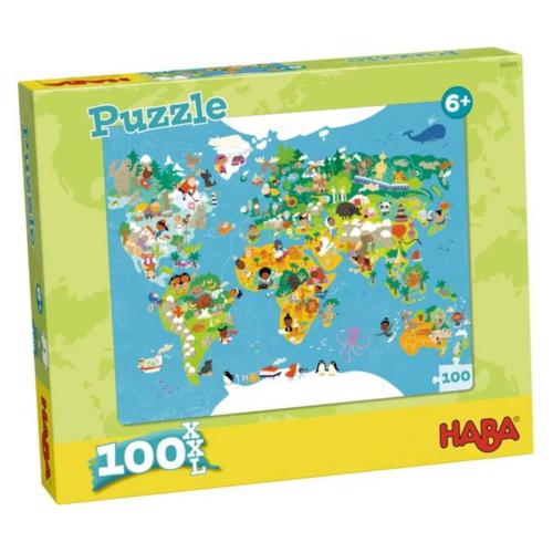Haba Puzzel - Wereldkaart - 100st.