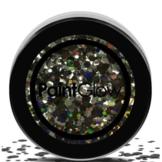 Grote glitters - Zwart - 3 Gram