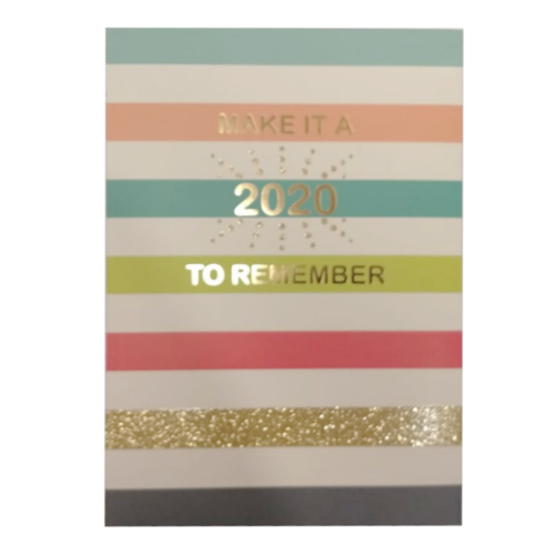 Paperclip Agenda - Make it a 2020 to remember - 14x20cm