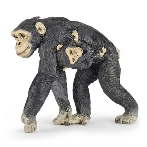 Papo Speelfiguur - Aap - Chimpansee - Met jong