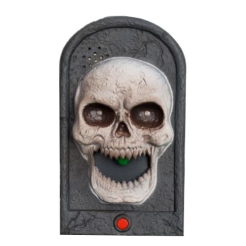 Partychimp Deurbel - Skelet - Bewegend - Met licht & geluid - 18cm