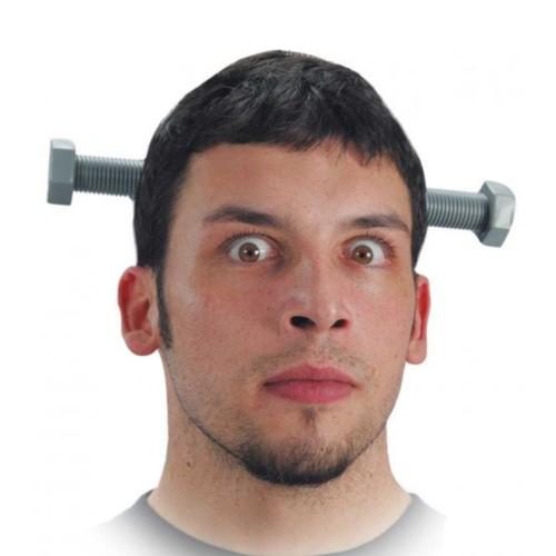 Partychimp Diadeem - Schroeven door hoofd