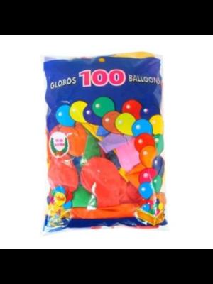 Ballonnen - Gekleurde mix - 25cm - 100st.