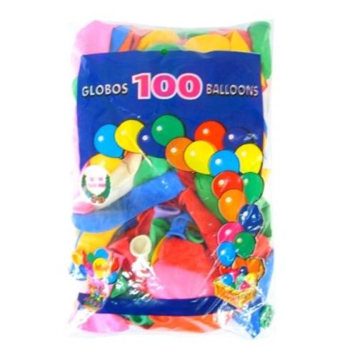 PartyXplosion Ballonnen - Gekleurde mix - 30cm - 100st.