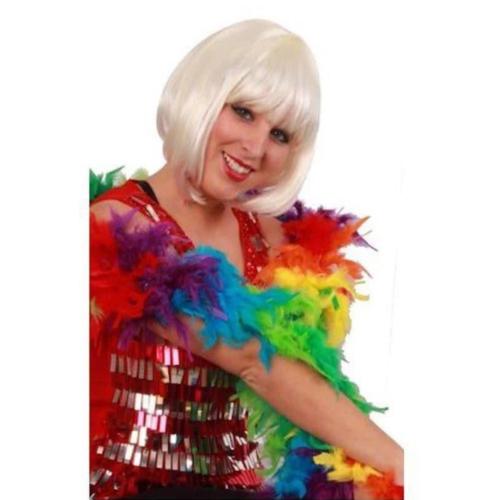 PartyXplosion Boa - Gekleurd - Fluor / neon - Dik - 180cm/75 gram