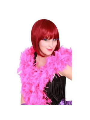 PartyXplosion Boa - Donker roze - Dik - 180cm/75 gram