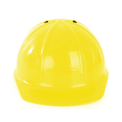 PartyXplosion Helm - Bouwhelm - Geel - Verstelbaar