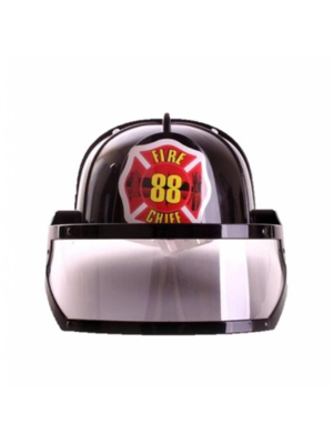 PartyXplosion Helm - Brandweer - Zwart