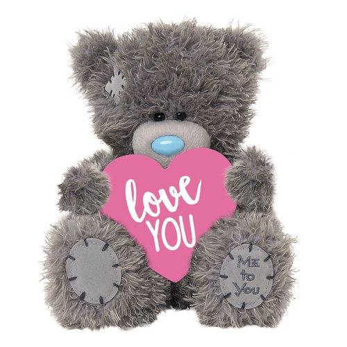 Me to You Knuffel - Beer - Love you - Met roze hart - 11cm