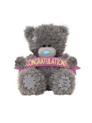Me to You Knuffel - Beer - Congratulations - 11cm