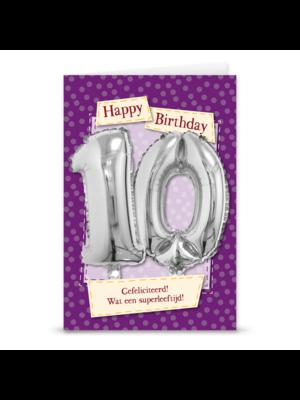 Miko Kaart - Leeftijdballon - 10 Jaar