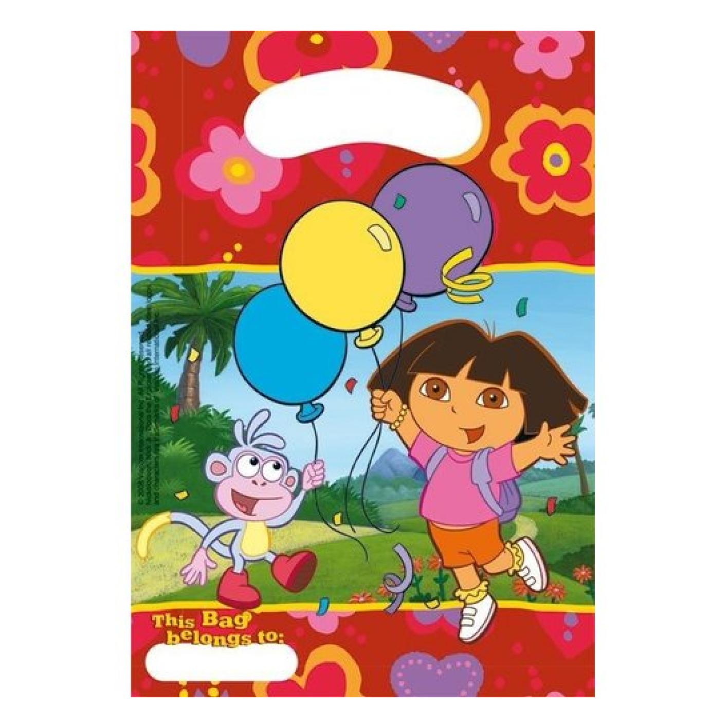 Uitdeelzakjes - Dora - 6st. - in Cadeauverpakkingen & cadeaupapier