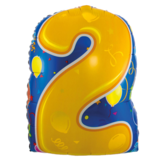 Folieballon - 2 - Shape - 56cm - Zonder vulling - in Feestartikelen