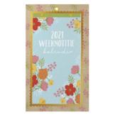 Weeknotitie Kalender -2021 - Op schild - In full bloom - in Kalenders