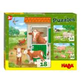 Puzzel - Jonge boerderijdieren - 12, 15 amp 18st.