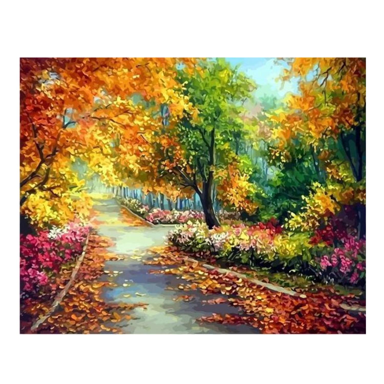 Diamond painting - Landschap in de herfst - 40x50cm