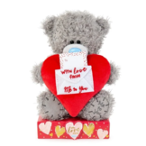 Knuffel - Beer - With love from me to you - Met kaartje - 16cm