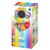 Helium tank - Happy Birthday - Met 4 folieballonnen, 12 latexballonnen en lint - in Feestartikelen