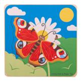 Puzzel - Van rupsenzaad tot vlinder - Levenscyclus - 3 lagen