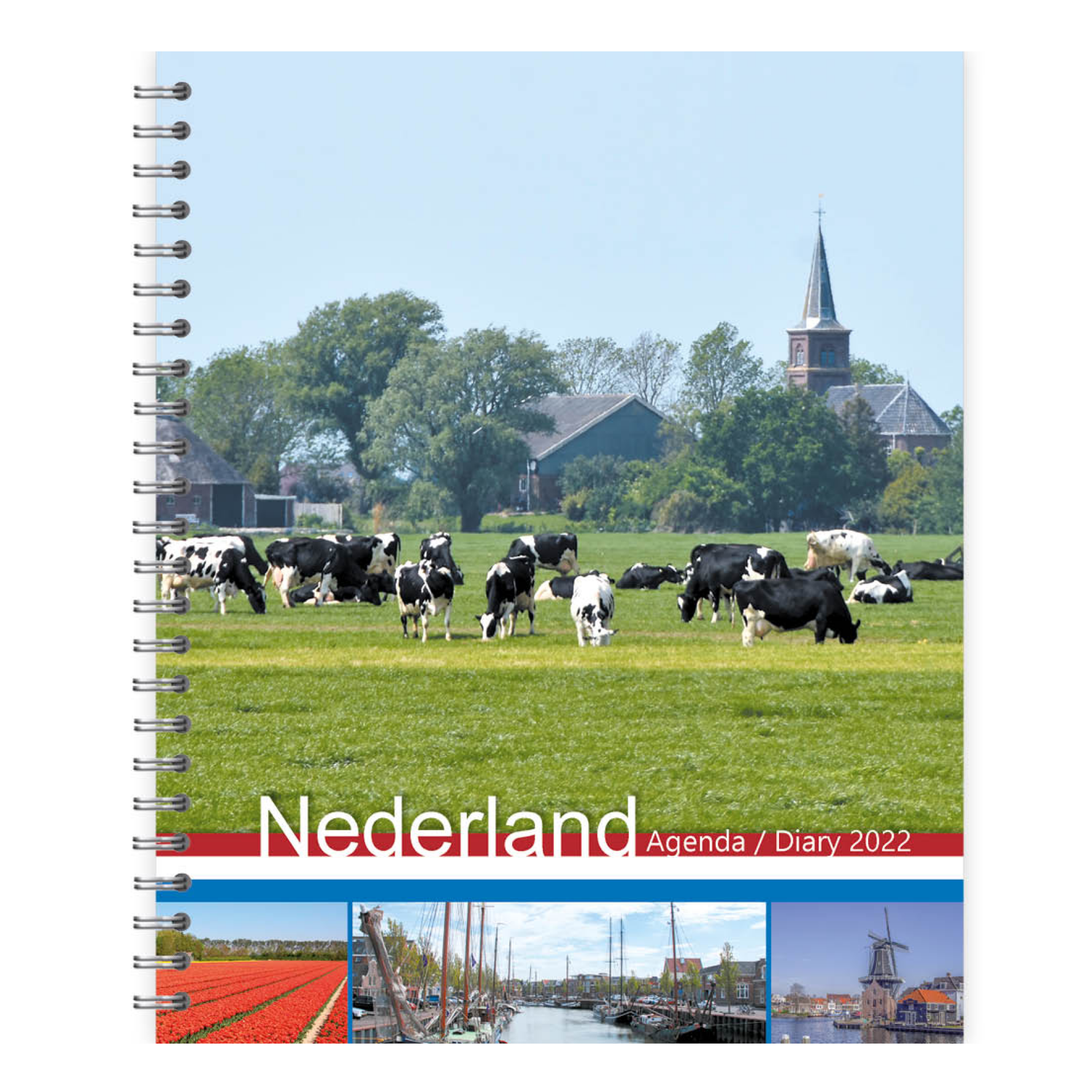 Agenda - 2022 - Holland - Met spiraal - 17,5x21,5cm - in Agenda's