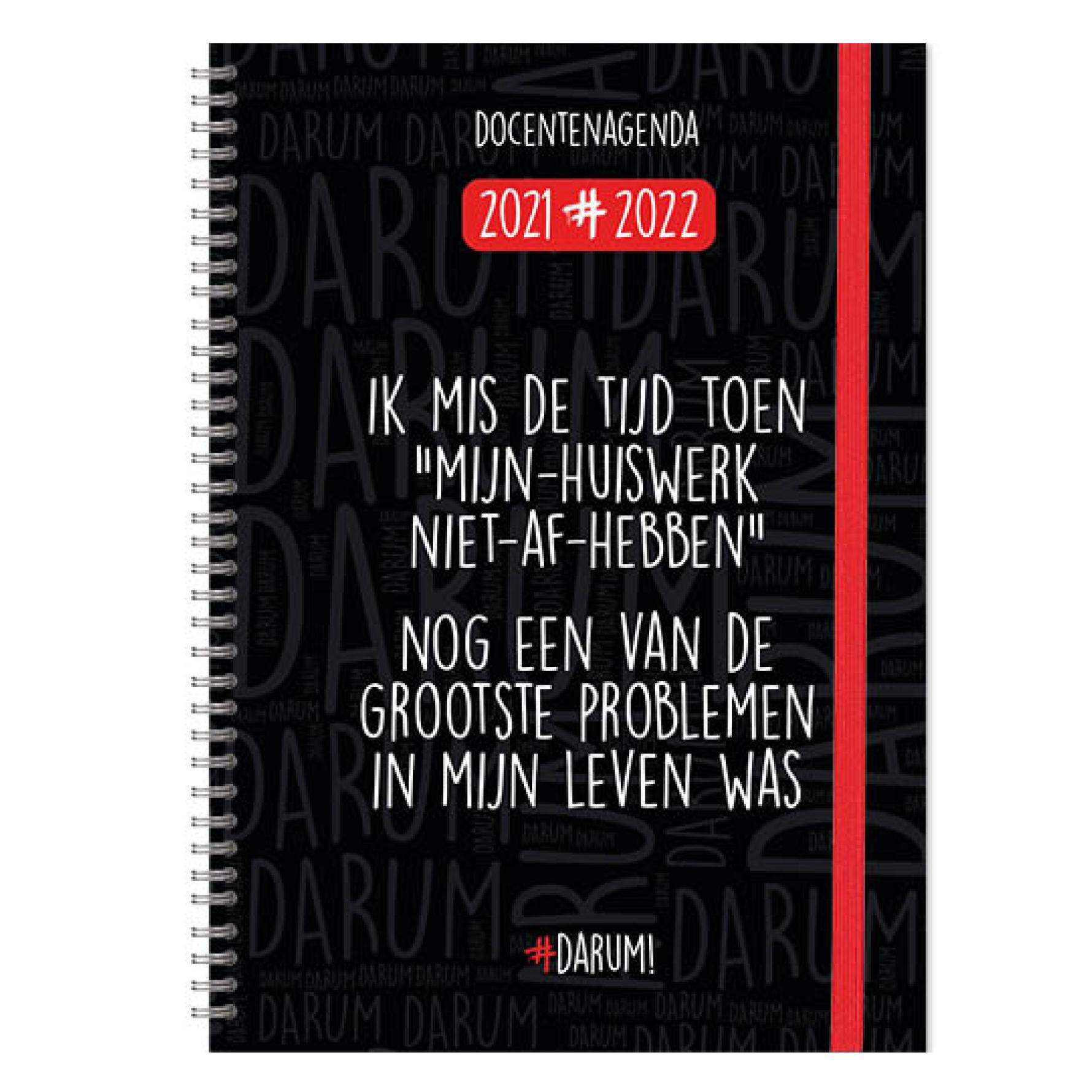 Agenda - 2022 - Docentenagenda - Darum! - A4 - 21x29,7cm