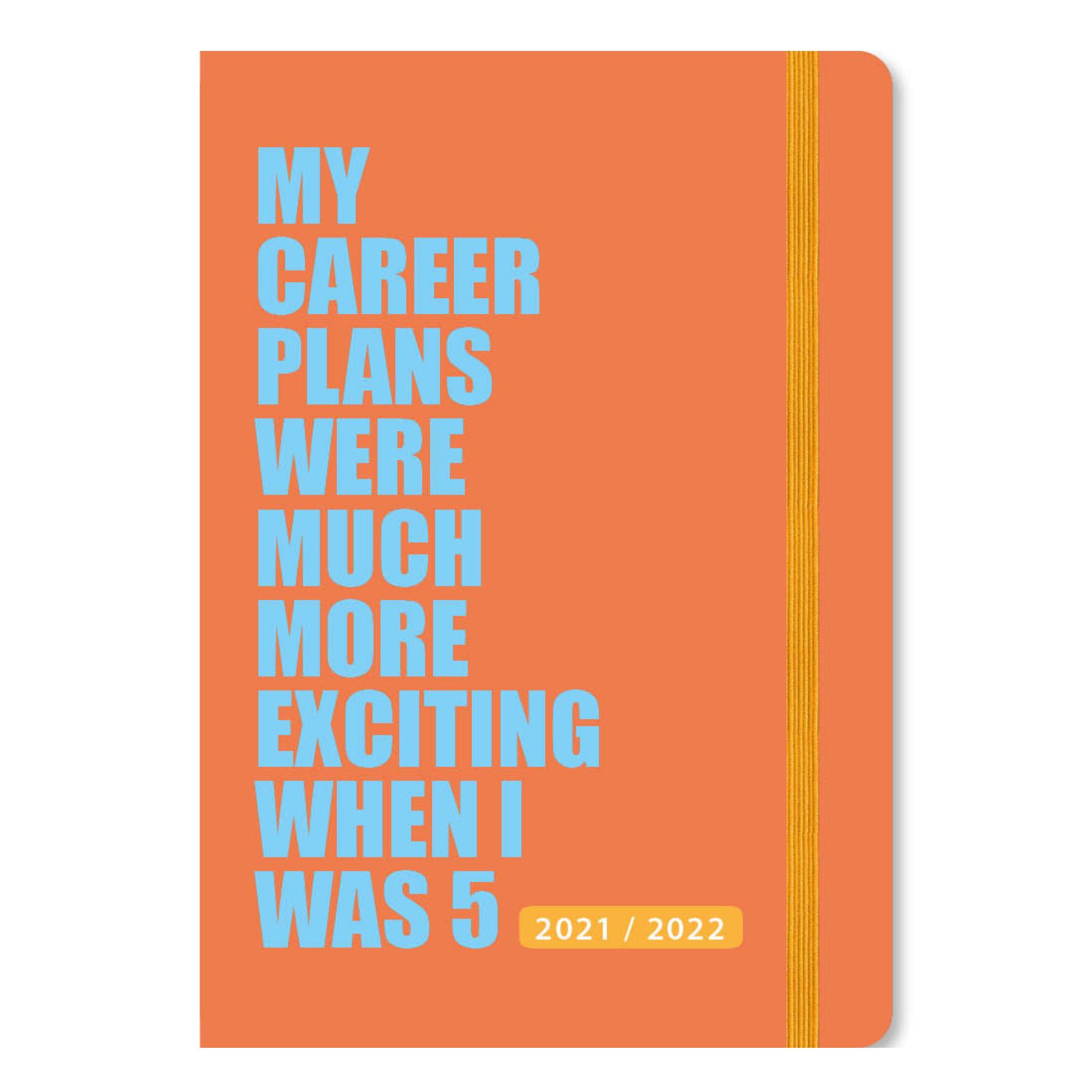 Agenda - Maandplanner - 2022 - 17 maanden - A5 - Oranje - in Agenda's