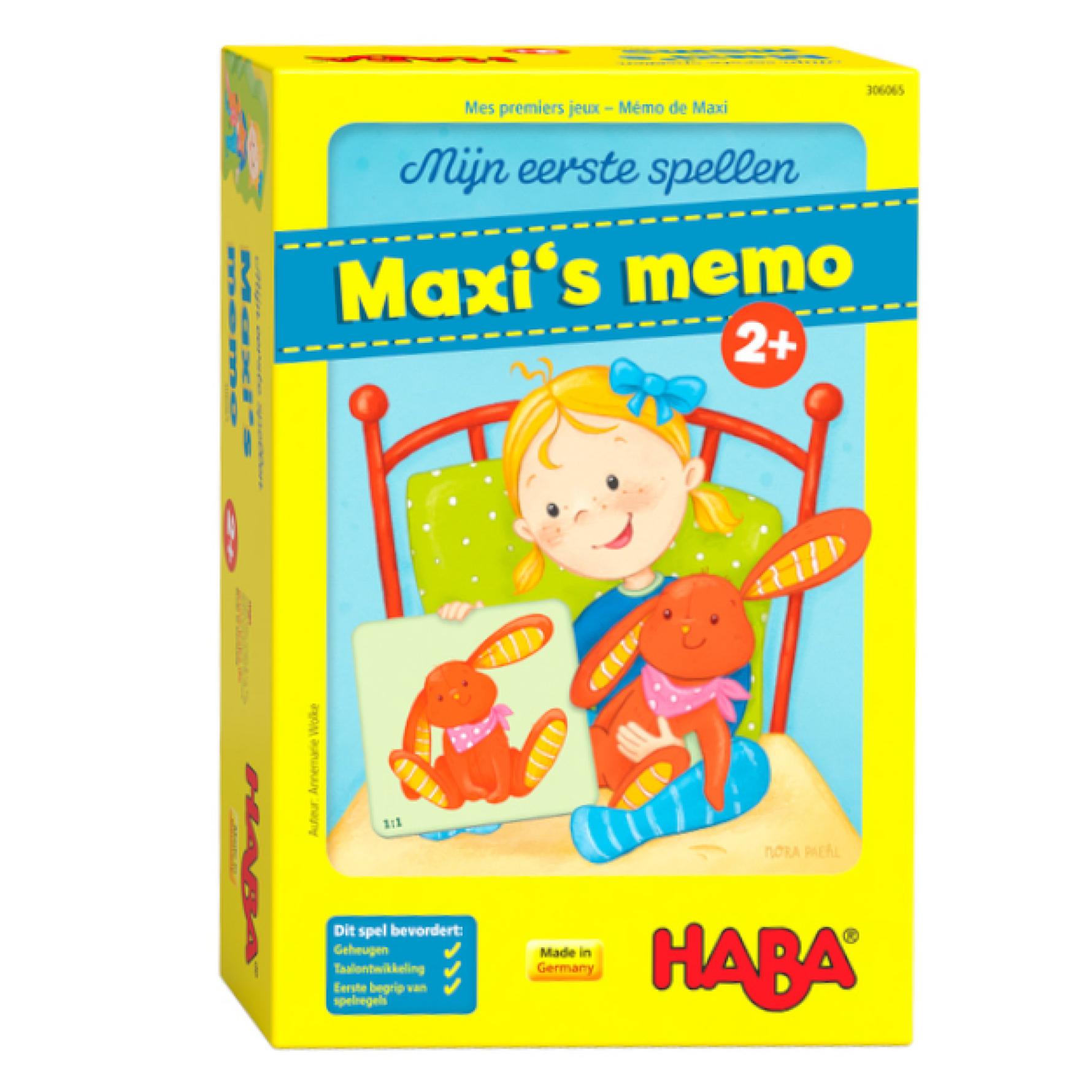 Spel - Maxi s memo - 2+