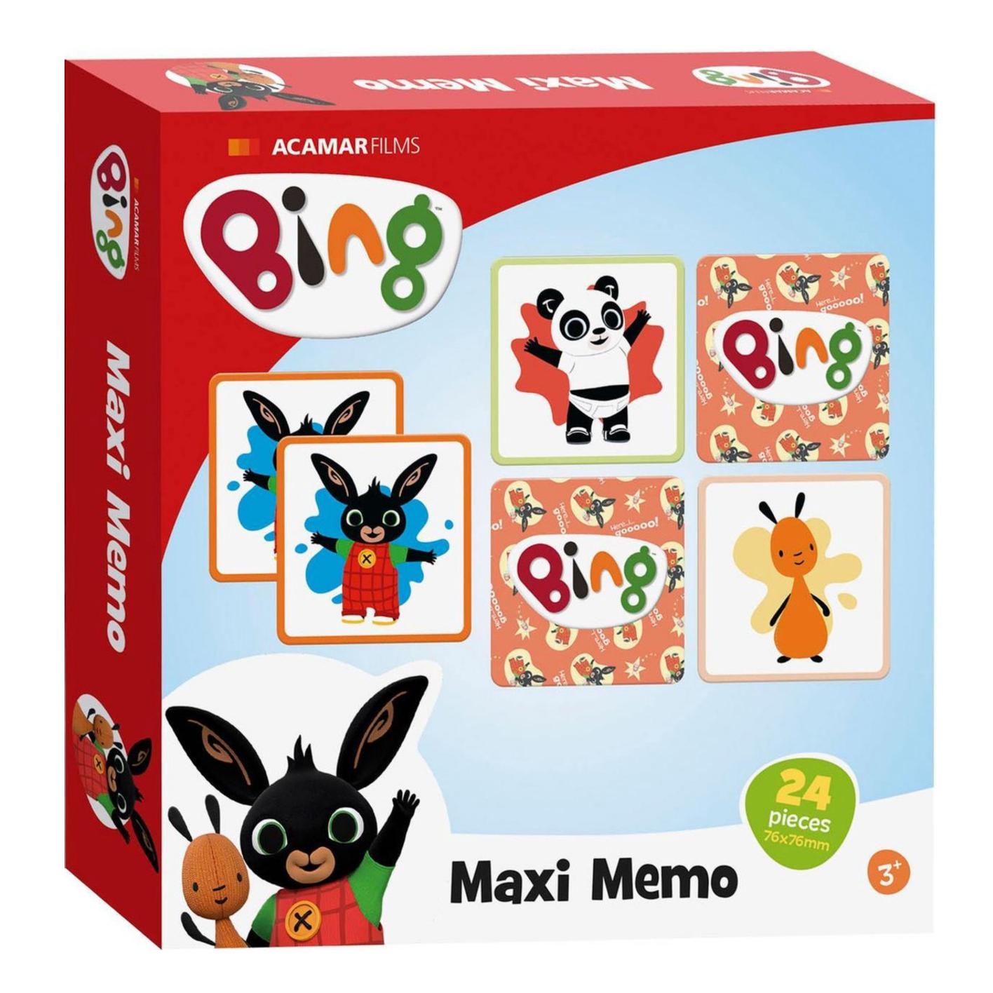 Spel - Memory - Bing - Maxi memo - 24dlg