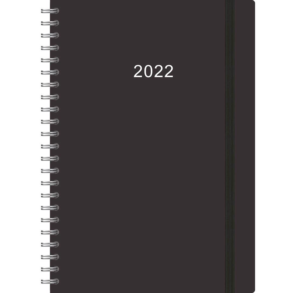 Comello Agenda - 2022 - Thuiswerkagenda - Zwart - Groot - 17,5x25cm