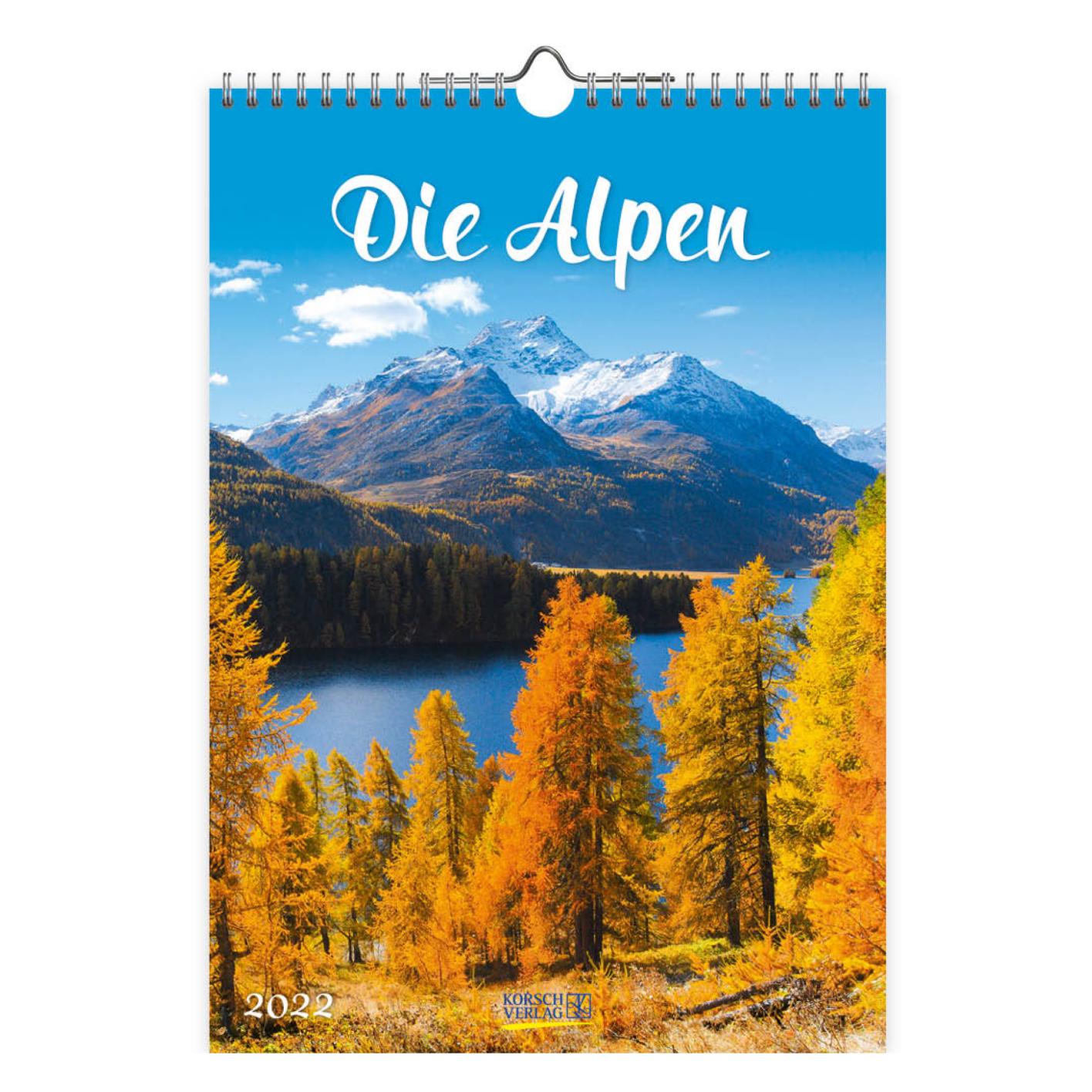 Kalender - 2022 - Alpen - 23.5x33.5cm - in Kalenders