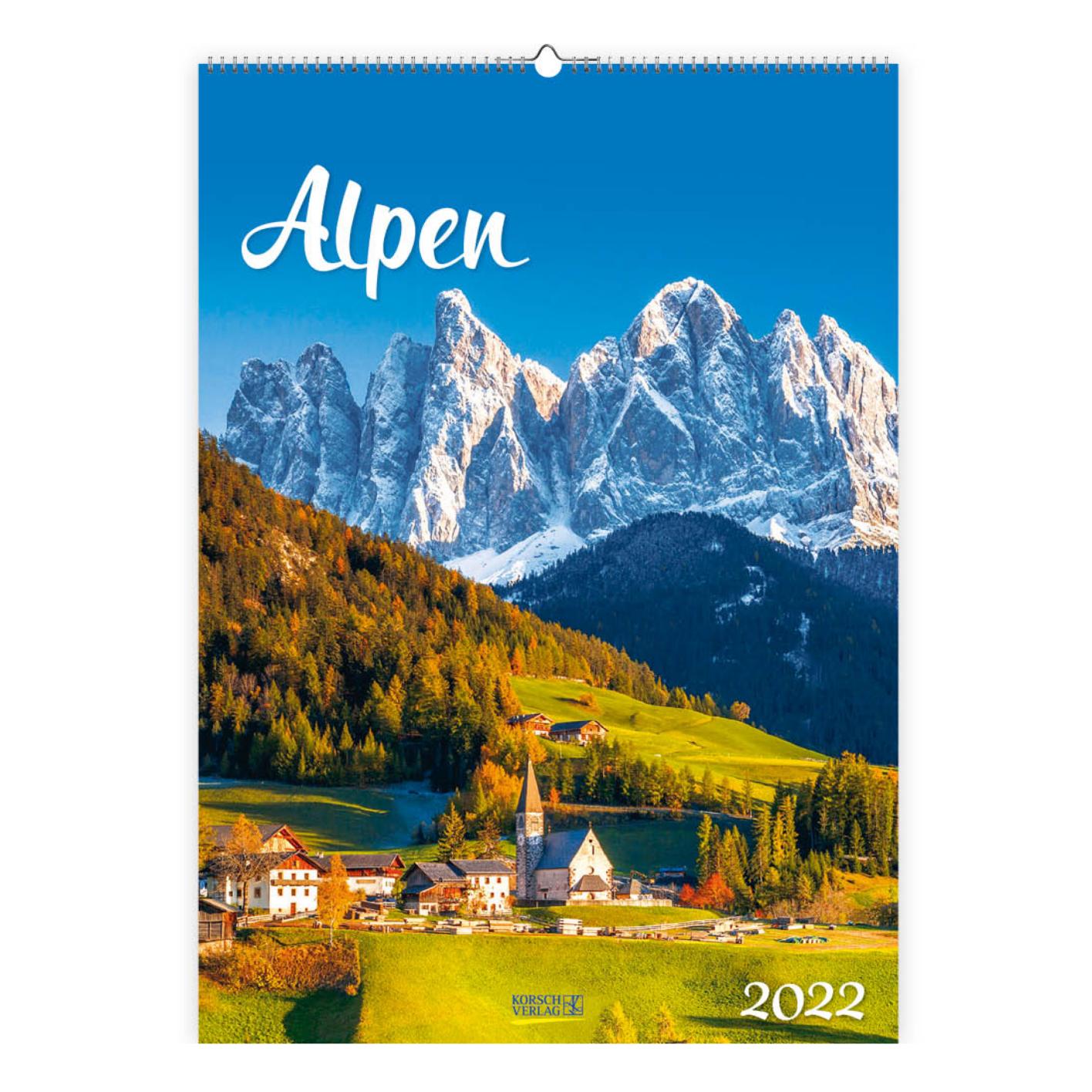 Kalender - 2022 - Alpen - 30x42cm - in Kalenders