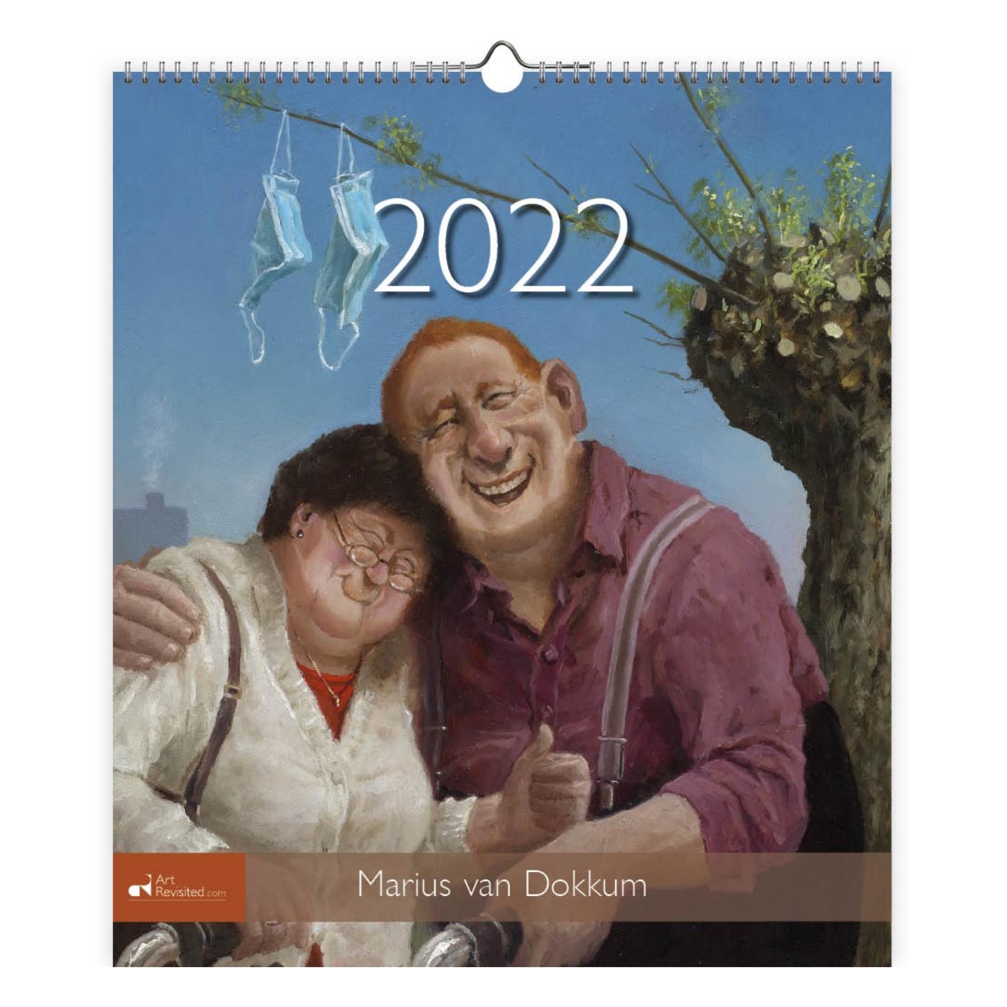 Maandkalender - 2022 - Marius van Dokkum - 30x34,5cm - in Kalenders