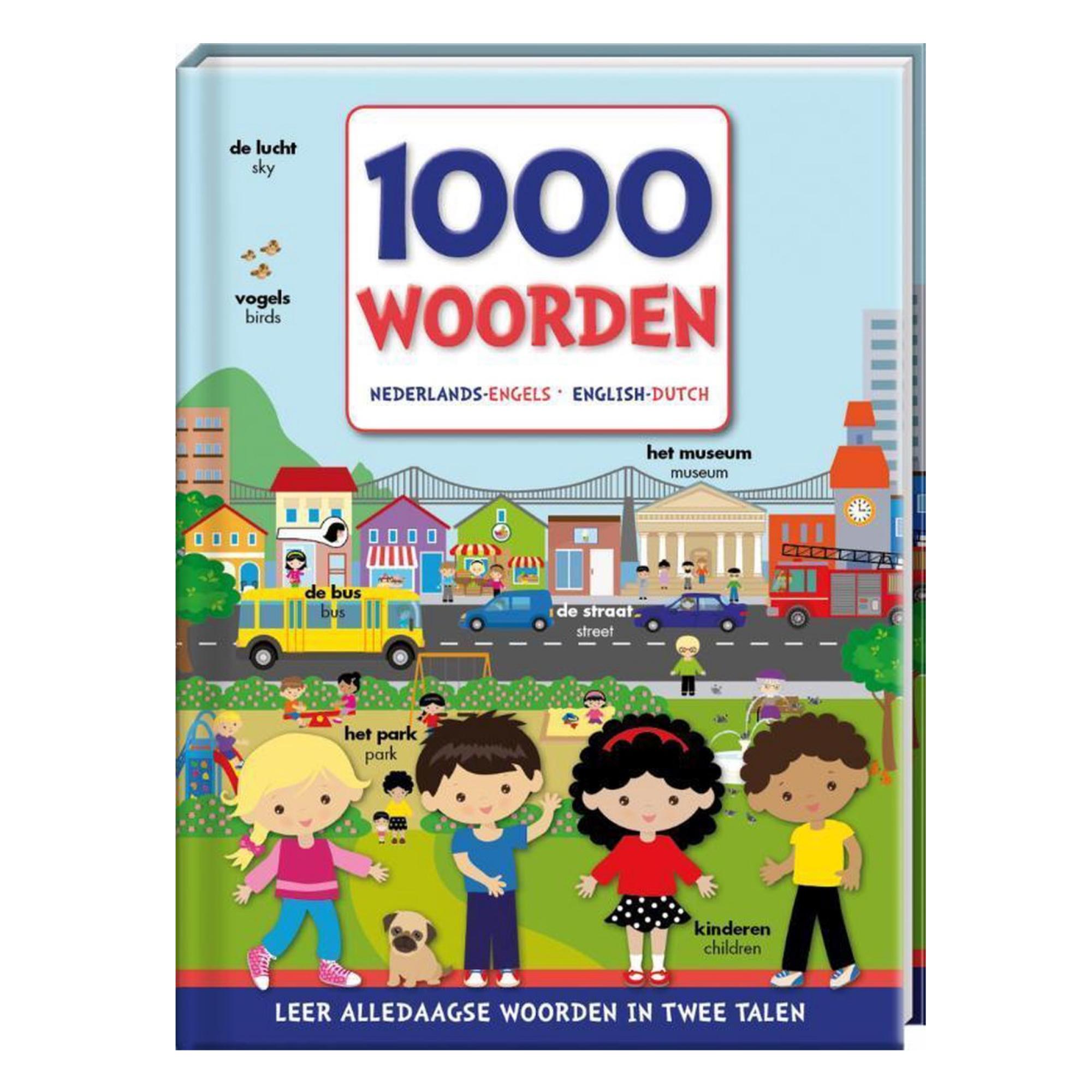 Imagebooks Boek - 1000 woorden - Nederlands Engels