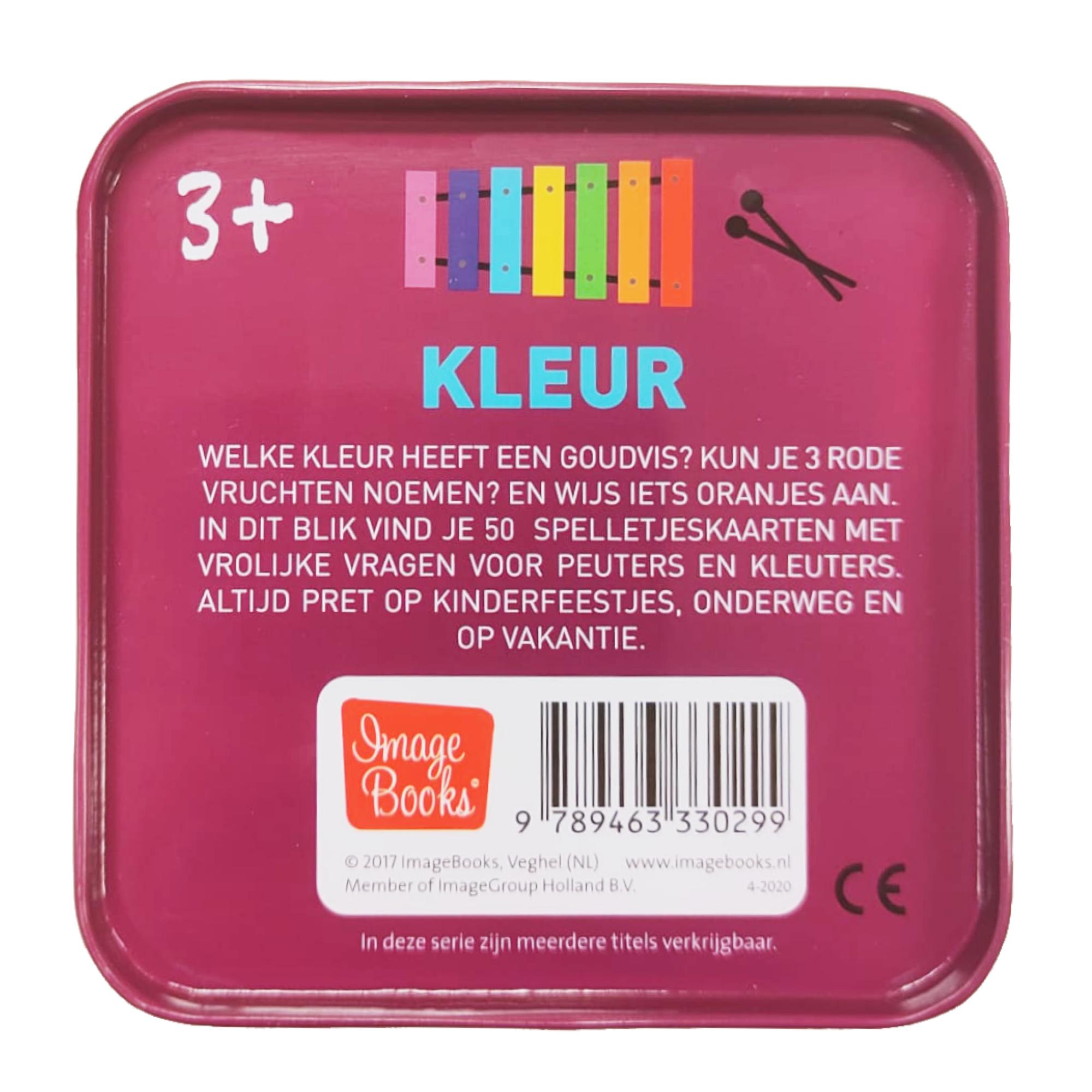 Imagebooks Spelletjes kaarten in blikje - Kleur - 3+