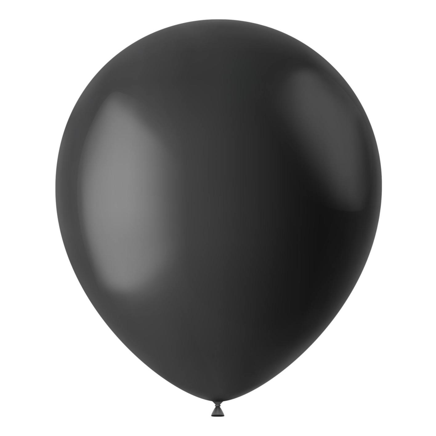Folat Ballonnen - Nacht zwart - 30cm - 100st.