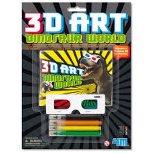4M - Kleuren - 3D Dinosaur wereld - Incl. 3D bril