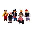 BigJigs Bigjigs - Poppenhuispoppetjes - Piraten