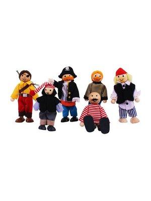 BigJigs Poppenhuispoppetjes - Piraten