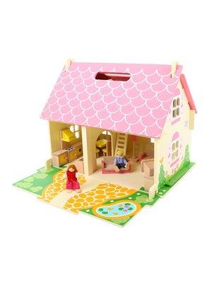 BigJigs Poppenhuis - Blossom cottage