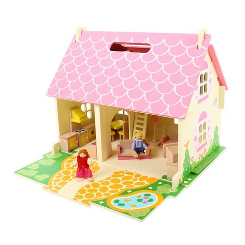 BigJigs Bigjigs - Poppenhuis - Blossom Cottage