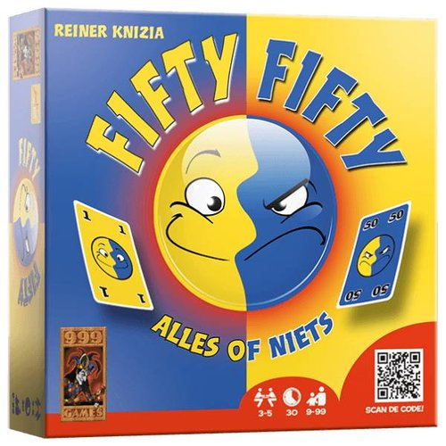 999 Games 999 Games - Kaartspel - Fifty fifty - 9+