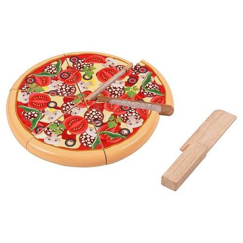 Santoys Speelgoedeten - Pizza - Salami & groente - Snijset