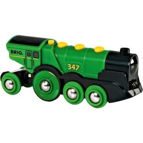 Brio Brio - Locomotief op batterijen - Grote groene Gustaaf