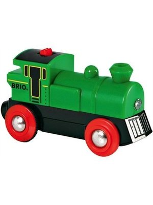 Brio Trein - Locomotief - Op batterijen - Groen - Stop/start (33595)