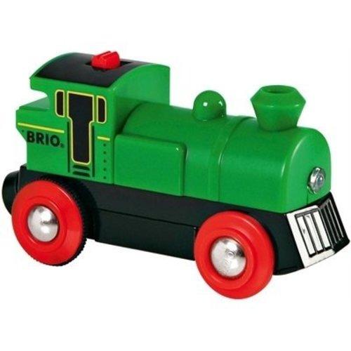 BRIO Brio - Rails - Locomotief - Op batterijen - Groen - Stop/start (33595)
