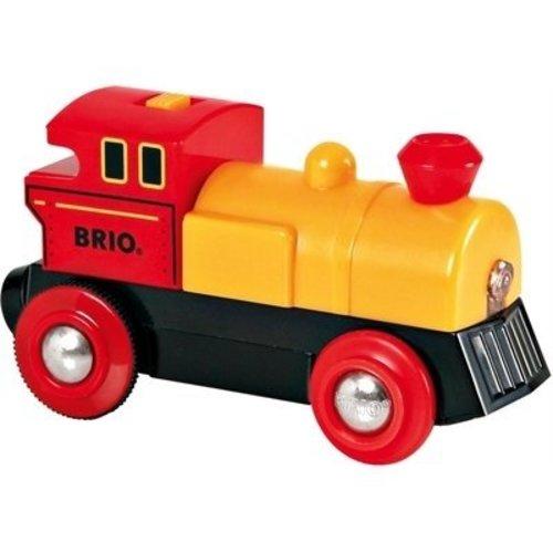 BRIO Brio - Rails - Locomotief - Op batterijen - Rood/geel - Voor & achteruit (33225)