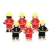 Bigjigs - Poppenhuispoppetjes - Brandweermannen