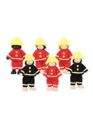 BigJigs Bigjigs - Poppenhuispoppetjes - Brandweermannen