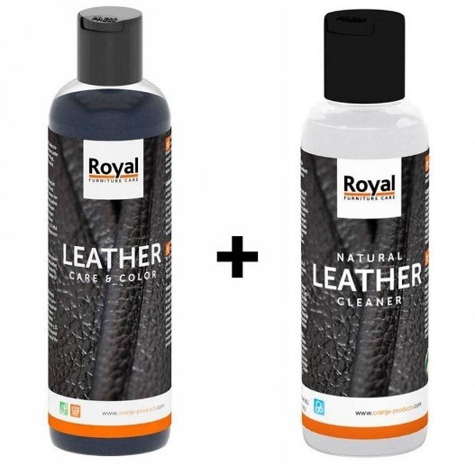 Leren bank reinigen met Leather Cleaner + Leather care & color