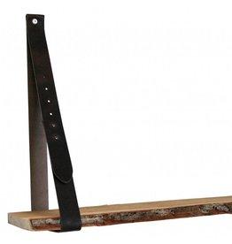 100% original Leder Regaltrager dunkelbraun verstellbar (Preis pro Stuck)